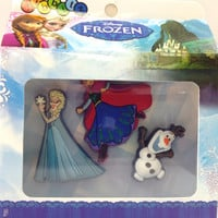 Kids Girls Crocs Jibbitz DISNEY Frozen Elsa Olaf Anna Shoe Charm Accessory 3 pack box set
