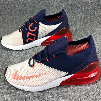 Nike Air Max 270 Nike Max 270 Knitting Flying Line Half Palm Shock Cushion Shockproof Sports Shoes F-CSXY
