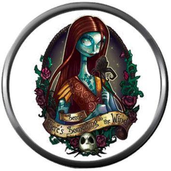 Lovely Sally Jack Skellington Halloween Town Nightmare Before Christmas 18MM - 20MM Snap Jewelry Charm