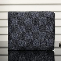 Louis Vuitton LV Men Fashion Leather Wallet Purse