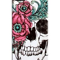 Xpeen Phone Cases Two Big Flower With Skull Flexible Tpu Case Fits Iphone 5/5s
