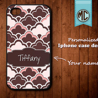 Personalized iPhone Case - Plastic or Silicone Rubber Monogram iPhone 4 4S Case Cover - K013