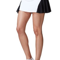 Michi Deuce Designer Tennis Skirt - White / Black