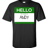 Hello My Name Is ANDY v1-Unisex Tshirt