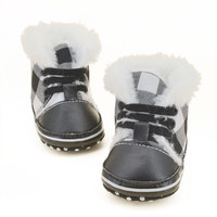 Boots Girls Boys Boots Kids Cotton Leather Shoes Children Snow Boots Warm 0-18 Months NW