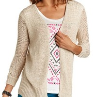 Open-Stitch Lightweight Cardigan: Charlotte Russe