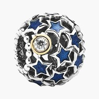Women's PANDORA Night Sky Charm - Silver/ Blue/ Clear Cz