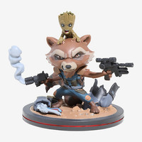 Marvel Guardians Of The Galaxy Rocket & Groot Q-Fig Figure Diorama