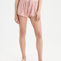 AE Lace Trim Tulip Short, Blush