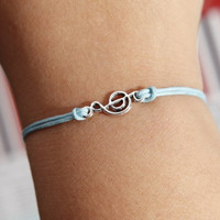 Music notation bracelet  Silver mini Music notation by diychenmade