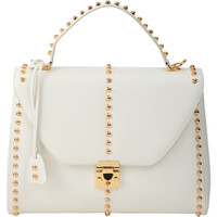 Studded Large Scottie Satchel