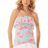 Wiley Ruffle Tube Top - Lilly Pulitzer