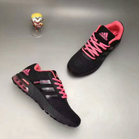 """""""Adidas"""" Fashion Casual Knit Fly Line Surface Women Air Cushion Sneakers Running Shoes"""
