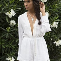 Somedays Lovin Nadin Lace Plunging Playsuit Cream