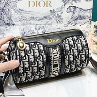 Dior New fashion more letter canvas round shoulder bag crossbody bag