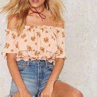Abigail Off-the-Shoulder Crop Top