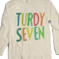 Turdy Seven-Unisex Natural T-Shirt