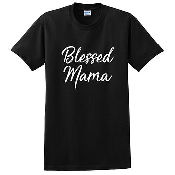 Blessed mama shirt, mama shirt, new mom gift, mommy tshirt, unisex T Shirt