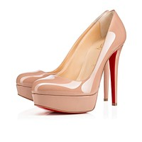 Christian Louboutin Cl Bianca Nude Patent Leather 140mm Stiletto Heel Classic