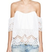 Lucy ParisOff-The-Shoulder Lace Sweetheart Top - Bloomingdale's Exclusive