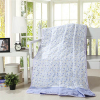 NEW! summer home floral Quilt/printed cartoon thin comforter / Filled synthetic fibers Twin Queen King Full size