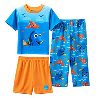 Disney / Pixar Finding Dory & Nemo Toddler Boy Waves 3-pc. Pajama Set