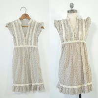 Urban Outfitters Peasant Dress | Ruffled Bodice