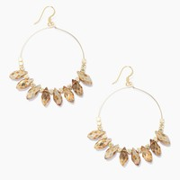 Carson Beaded Hoop Earrings - Gold