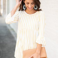 Need Your Love Top, Ivory-Mustard