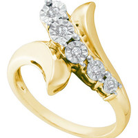 Diamond Fashion Ring in Sterling Silver 0.1 ctw