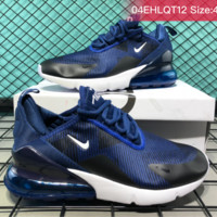Nike Air Max 270 VAPORMAX FLYKNIT Casual Running Shoes Blue Black