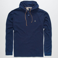 Volcom Burnout Mens Hooded Thermal Blue  In Sizes