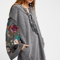 Look Away Lace-Up Tunic