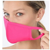 Keeping it in Style! Solid Hot Pink Face Mask with Filter Pocket