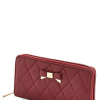 ModCloth Minimal Bow About Your Business Wallet