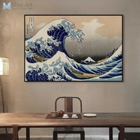 Famous Classic Japanese Ukiyoe Posters Sea Wave Landscape Sexy Girl Vintage Wall Art Picture Home Decor Canvas Painting No Frame