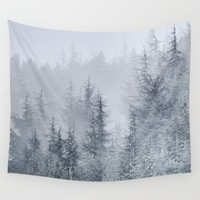 Early moorning... Into the foggy woods Wall Tapestry by Guido Montañés