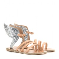 Ikaria leather and glitter sandals