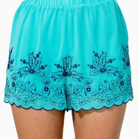 Summer Embroidered Shorts