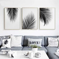 Nordic Tropical Cocos Tree Leaves Landscape Canvas Minimalist Painting Wall art Poster Print Home Decoration Picture Room Decor