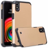 LG X Power Case, Slim Hybrid Dual Layer [Shock Resistant] Case Cover for LG X Power - Gold