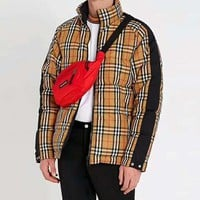 BURBERRY Trending Women Men Stylish Classic Plaid Zipper Cardigan Cotton Coat Down Jacket(Two Side Wear Reversible)