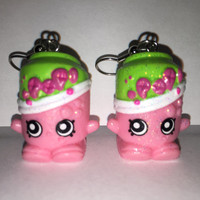 Shopkins Foodie Earrings - Soda Pops [glitter] - made with repurposed toys