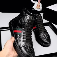 shosouvenir GUCCI fashion casual shoes snake