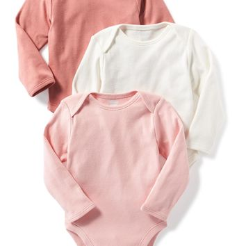 Solid-Color Jersey Bodysuit 3-Pack for Baby | Old Navy