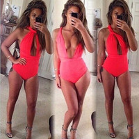Hot Sexy Women Swimsuit Bandage One-piece Bathing Suit Swimwear Monokini = 1946151236