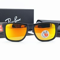 Original Ray-Ban RB4165 Justin Sunglasses Fashion Driving PC Polarized colourfull lens For Women Men