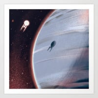the final frontier Art Print by Mohtz