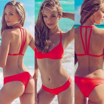 Swimsuit Hot New Arrival Summer Beach Sexy 3-color Bottom & Top Set Bikini [10495212941]