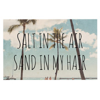 "Nastasia Cook ""Salt in the Air"" Beach Trees Decorative Door Mat"